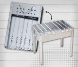 Assembly Charcoal BBQ Grill with Skewers