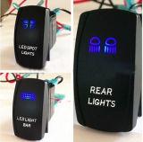Two LED Color Lights Marine Car Rocker Switch