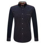 Factory Men Button Cotton Shirt Printed Fashion Dress Shirt