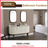 Walnut and Marble Bathroom Cabinet