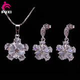 Charming Gemstone Jewelry Women Necklace and Earring Set