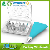 25-Piece Reusable Silicone Pastry Bag Cake Decorating Icing Tips