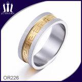 Loop Back Line Pattern Gold Design Ring