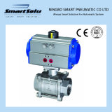 Pneumatic Actuators with Ss 3PC Screwed End Ball Valve