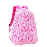 Pink Polyester School Bag School Backpack for Teenagers