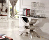 Home Furniture Modern Design Tempered Glass Dining Table