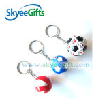 Customized Promotional 3D Football Shaped PVC Keychain