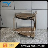 Luxury Rose Golden Stainless Steel Dining Trolley