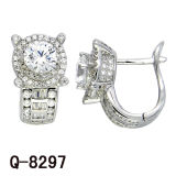 2017 New Styles 925 Silver CZ Earrings Diamond Jewelry.