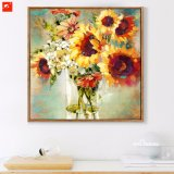 Yellow Chrysanthemum Abstract Canvas Prints