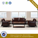 Modern Office Furniture Genuine Leather Couch Office Sofa (HX-CF019)