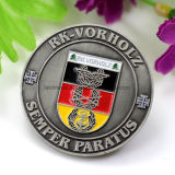 Custom Old Silver with Enamel German Filling Military Coin