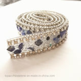 Wedding Accessories Custom Hot Fix Rhinestone Chain Rhinestone Trim (TS-sapphire 1.8cm)