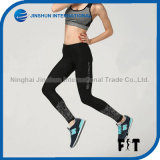 High Stretch Custom Women Sports Running Leggings with Reflective Printing