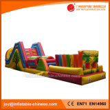 Amazing Color Mixed Inflatable Bouncy Assault Obstacle Course (T8-303)