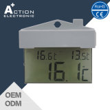 Digital Decorative Transparent Wall Thermometer with Temperature Recorder