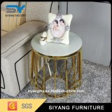 French Design Elegant Side Table with Marble Top