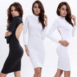 Wholesale Lady Halterneck Backless White Dress (A116)