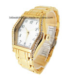OEM Gold Brass Wrist Watches Women with Crystals