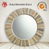 2017 New Style Colorful Natural Wood Round Wall Mirror for Decor (LH-M170612)