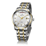 Jewellery Automatic Stainless Steel with Week and Date Display Men Watch