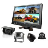 9-Inch Quad Monitor Rear View Camera Kit for Tractor, Trailer, Truck, Horse Trailer