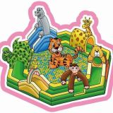 Cheer Amusement Jungle Themed Inflatable with Playground Equipment