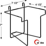 Adjustable Metal Wire Pegboard Holder and Metal Wire Slatwall Hook