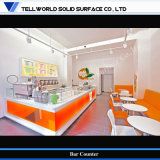 Acrylic Solid Surface Bar Counter with LED
