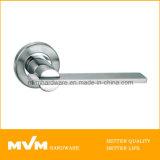 Stainless Steel Door Handle on Rose (S1124)