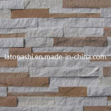 Natural White and Yellow Sandstone Cultural Stone for Wall Cladding