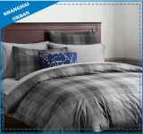 Dorm-Essentials Gray Plaid Cotton Duvet Cover Set