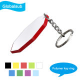Sublimation Blanks 44mm Octagon Polymer Keychain Plastic Keyring for Printing
