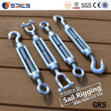 M16 Rigging Galvanized Forged DIN1480 Steel Rope Turnbuckle