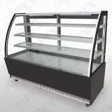 Curve Glass Door Display Showcase Cooler for Cake Stock