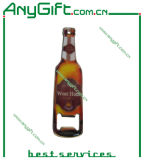 Bottle Shaped Bottle Opener with Magnet with Pinted Logo