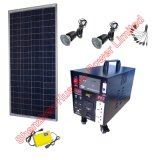 100W Solar Power Station for Light and Fan and TV