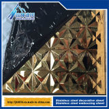 201 304 Stainless Steel Titanium Color Plate 3D Relief Metal Plate