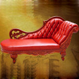 Classic Leather Chaise Lounge (90B)