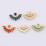 Brazilian Colorful Plated Gold Cubic Zircon Stud Earring Jewellery