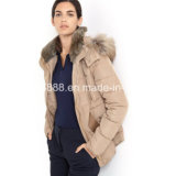 Genuine Down-Filled Short Jacket with Hood