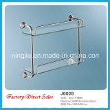 Factory Direct Sales Sanitary Ware Double Glass Shelf (J6028)
