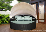 Rattan Outdoor Canopy Daybed / Round Bed/ Outdoor Daydream Bed