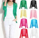 Womens Casual Fashion Long Sleeve Cardigan Hollow Knitwear