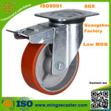 Warehouse Carts Heavy Duty PU Caster with Total Brake