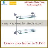 Sanitary Ware Bathroom Accessories All Brass Double Glass Holder