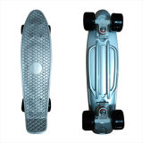 22inch PP Mini Skateboard Cruiser Complete Skateboards Banana Skateboard Silver Design -26
