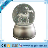 Christmas Snow Globe Musical Plays Jingle Bells Decorated