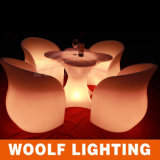 LED Glowing Furniture Modern Coffee Table Outdoor