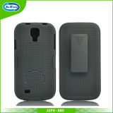 Rotated Combo Holster Phone Cover Case for Samsung I9500 Copy Style with Kinckstand
